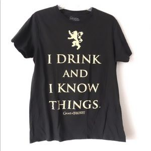 Game of Thrones Drink Know Things Graphic Tee